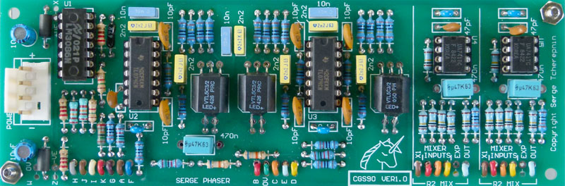 CGS90 - Phaser and Audio Mixer PCB V1 0